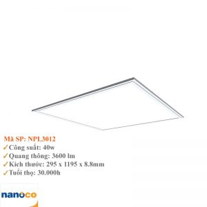 Đèn Led Panel 300×1200 Nanoco NPL3012